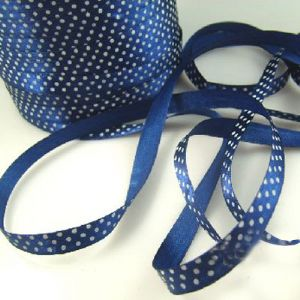 Satin ribbon, Dark blue, 1cm x 2m, 1 piece, (SD170)